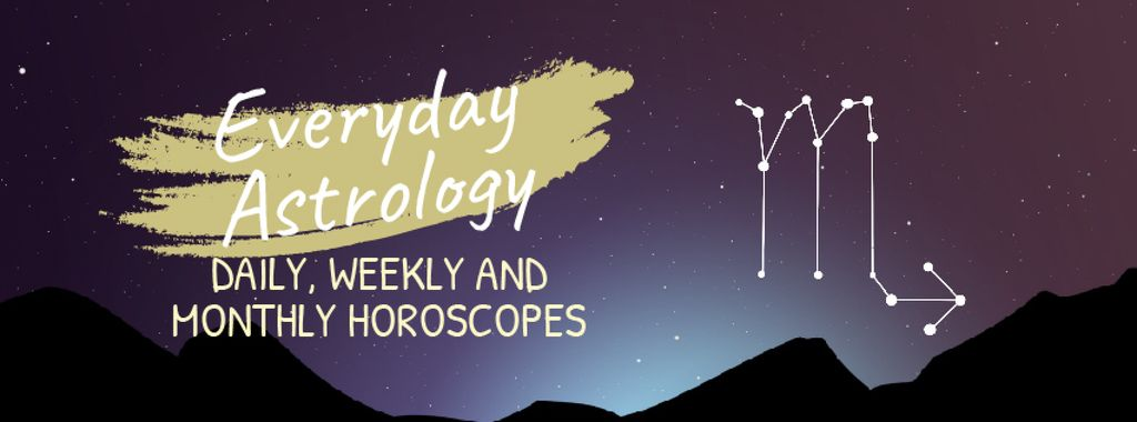 Night sky with Scorpio constellation — Створити дизайн