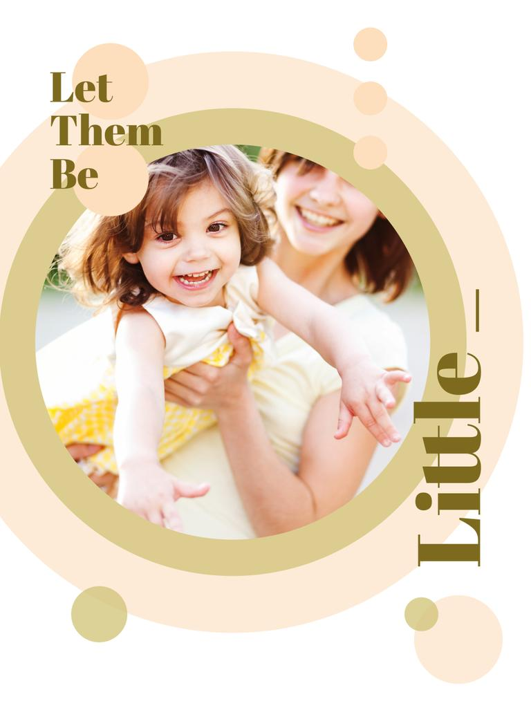 Happy mother with her daughter — Создать дизайн