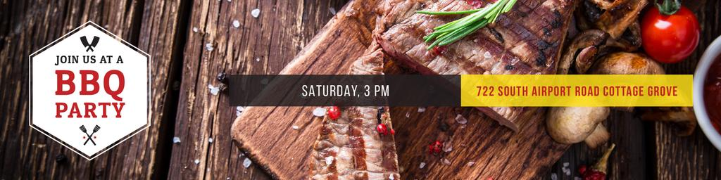 BBQ party Invitation — Crear un diseño
