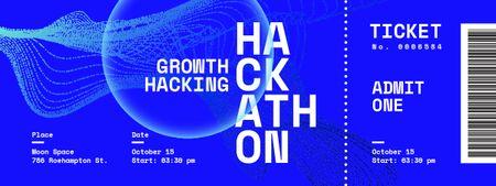 Hackathon Event with Virtual Sphere Ticket Tasarım Şablonu