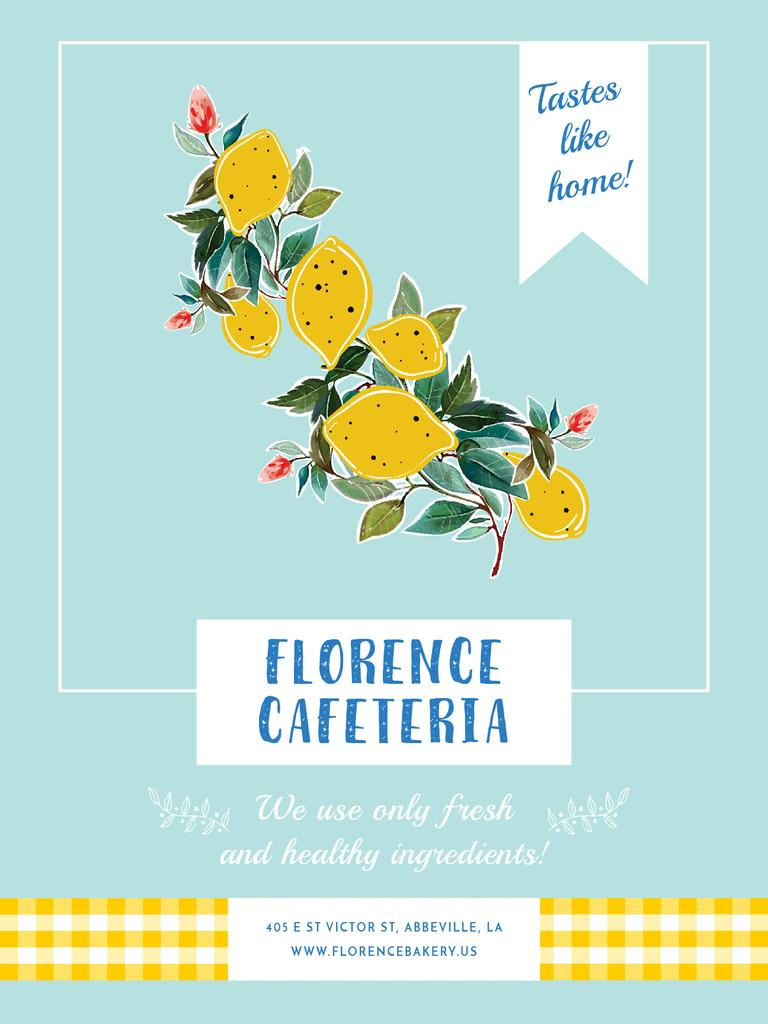 Cafeteria invitation with Lemons — ein Design erstellen