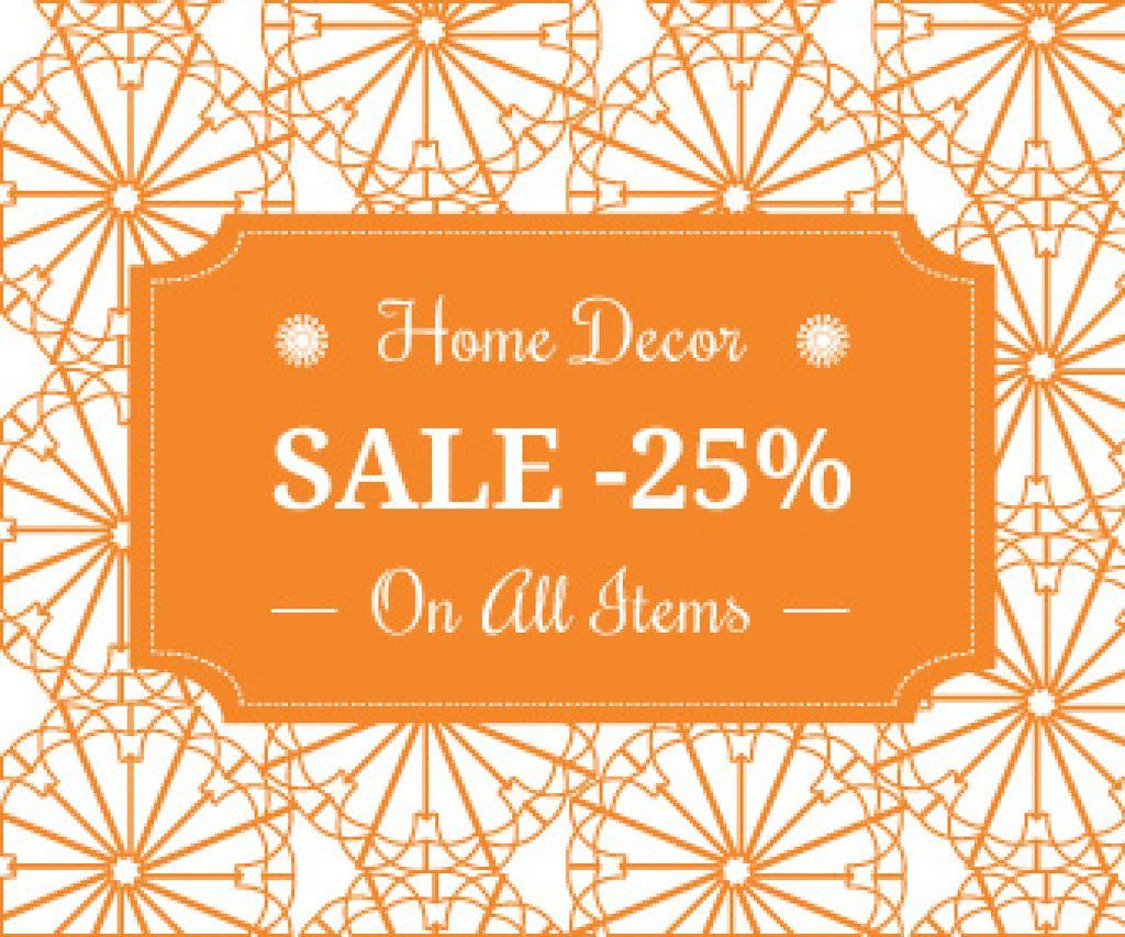 Plantilla de diseño de Home decor sale advertisement Large Rectangle