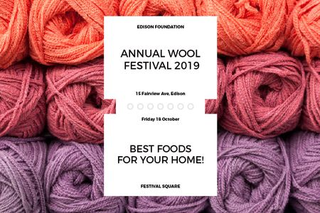Annual wool festival Gift Certificate Design Template