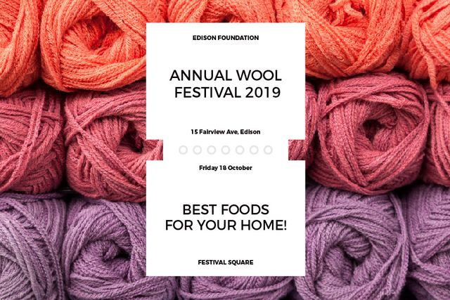 Annual wool festival Gift Certificate – шаблон для дизайну