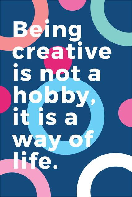 Citation about how to be a creative Pinterest Modelo de Design