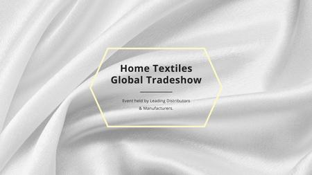 Plantilla de diseño de Home Textiles Events Announcement with White Silk Youtube