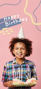 Little boy celebrating Birthday