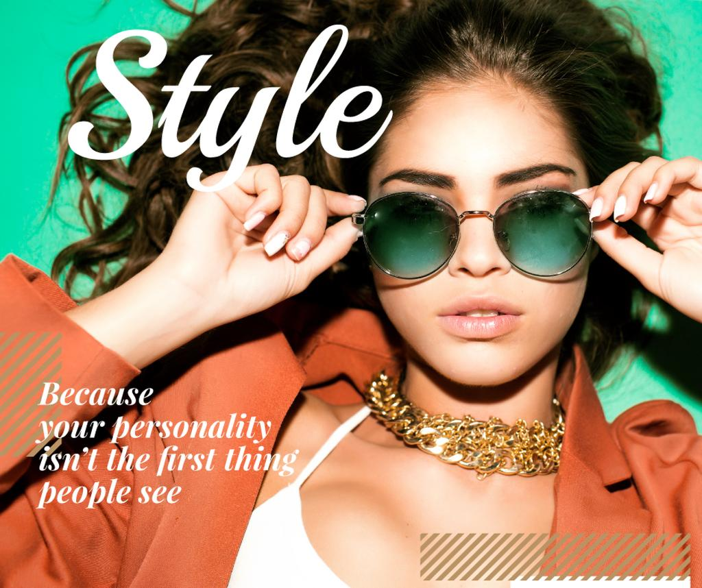 Beautiful stylish woman in sunglasses — Crear un diseño