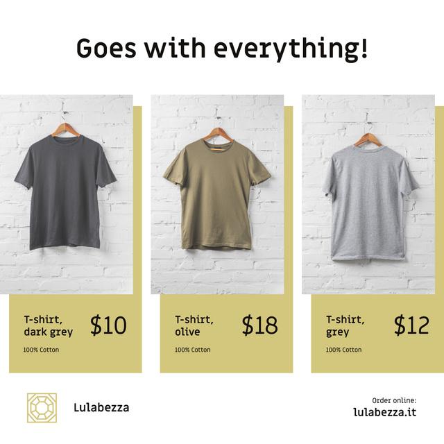 Clothes Store Sale Basic T-shirts Instagram Modelo de Design