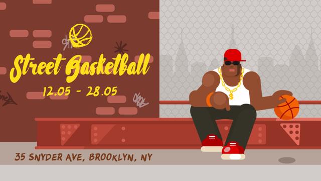 African american man playing basketball Full HD video Modelo de Design