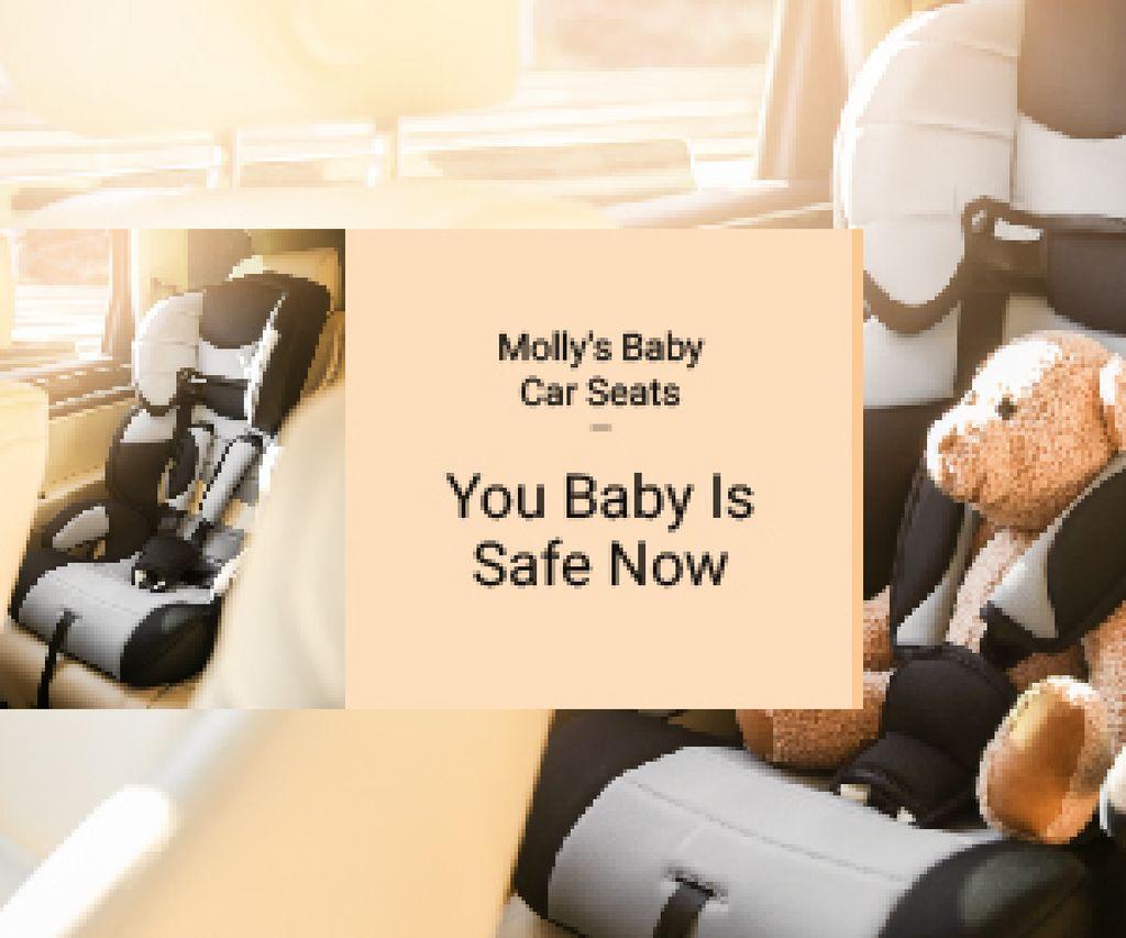 Teddy Bear in Baby Car Seat — Створити дизайн