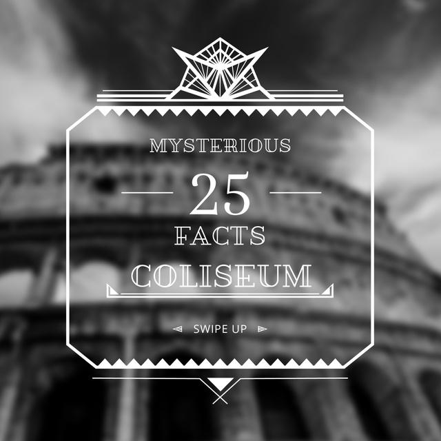 Modèle de visuel Travelling Site Facts Coliseum View - Instagram