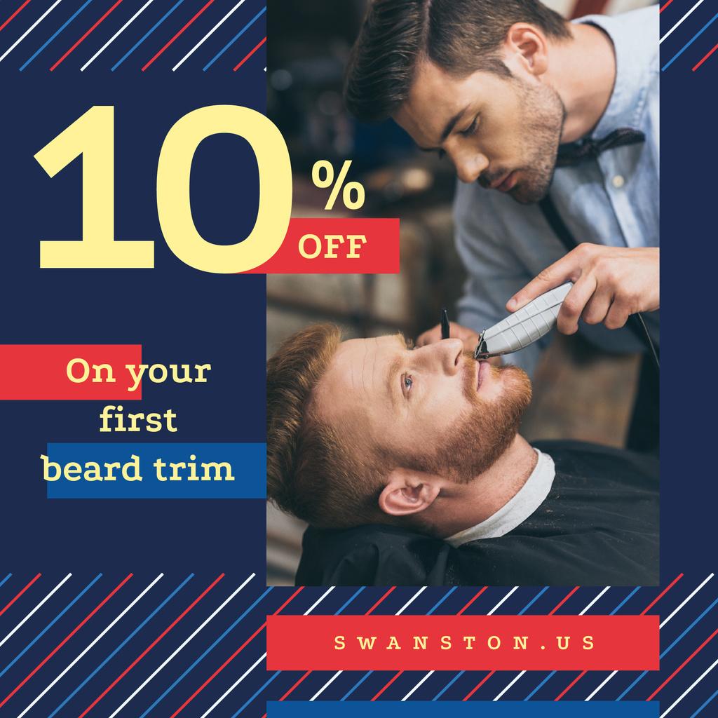 Client at professional barbershop Instagram – шаблон для дизайна