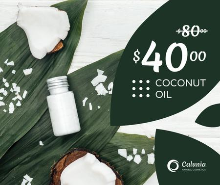 Cosmetics Offer with Natural Oil in Bottles Facebook Modelo de Design