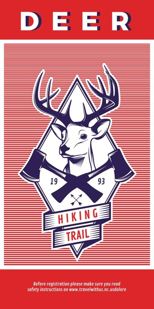Hiking trail advertisement with deer — Создать дизайн