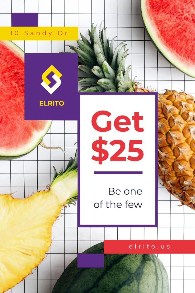 Raw summer fruits — Створити дизайн
