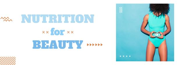 Plantilla de diseño de Nutrition for beauty Offer with sports girl Tumblr