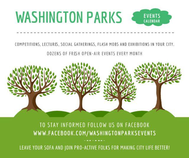 Events in Washington parks Medium Rectangleデザインテンプレート