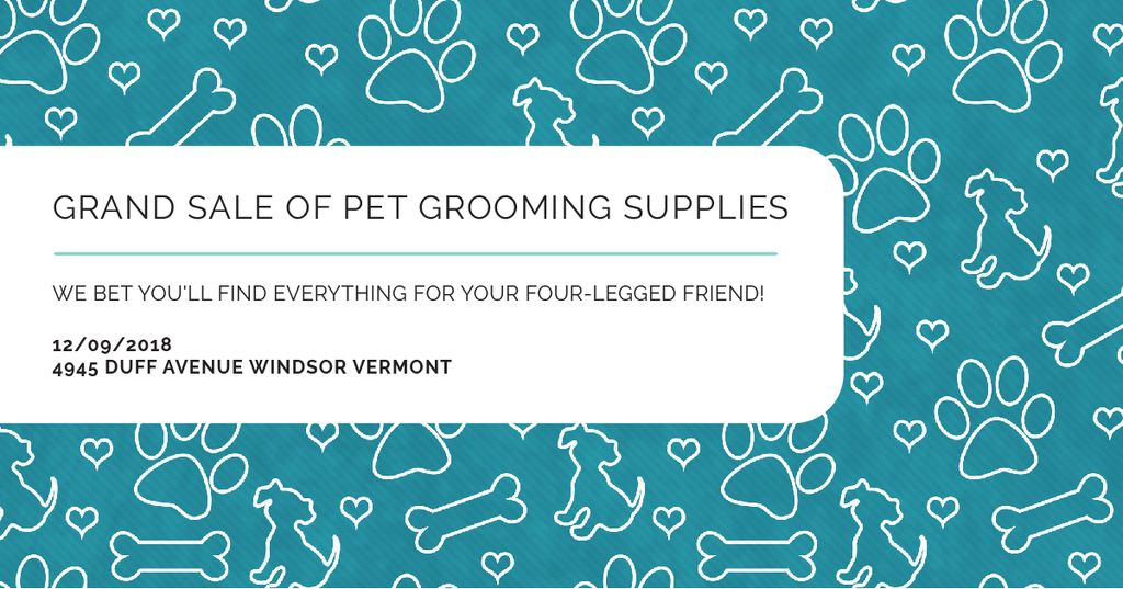 Grand sale of pet grooming supplies — ein Design erstellen