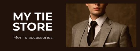 Template di design Handsome Man in Suit and Tie Facebook cover