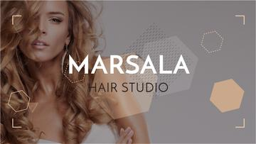 Hair Studio Ad Woman with Blonde Hair