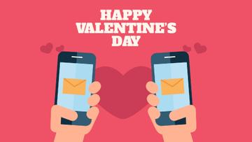 Valentine's Day Couple sending Messages