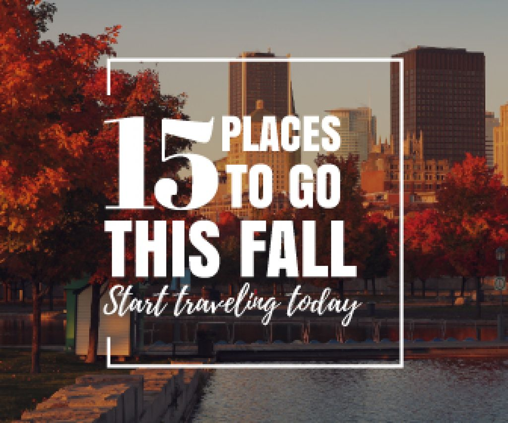 places to go this fall poster — Maak een ontwerp
