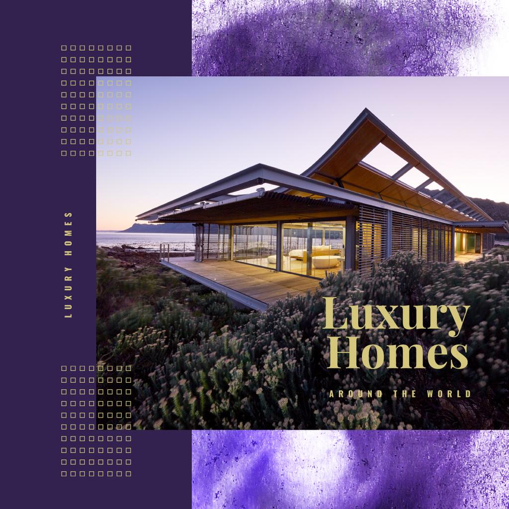 House at sea coastline — Maak een ontwerp