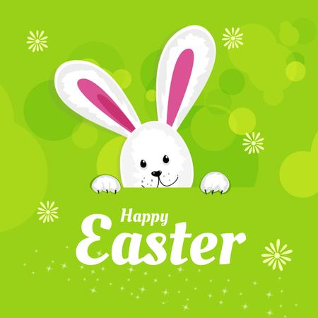 Designvorlage Cartoon Adorable Easter bunny für Animated Post