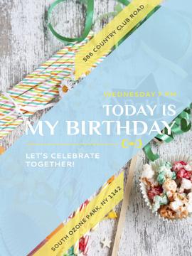 Birthday Party Invitation Bows and Ribbons