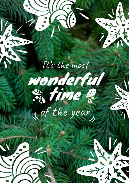 Modèle de visuel Green Christmas tree - Poster