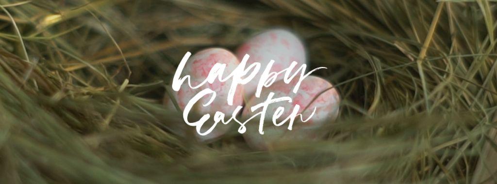 Colored Easter eggs in nest — Crea un design