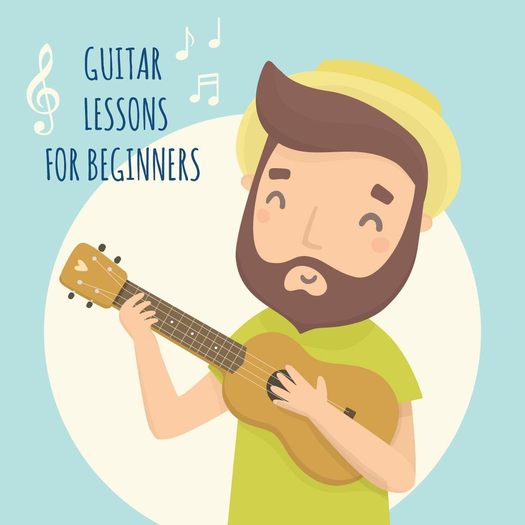 Guitar lessons for beginners poster — Створити дизайн