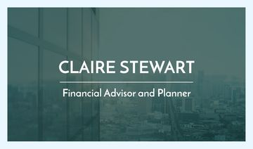 Financial advisor and planner business card