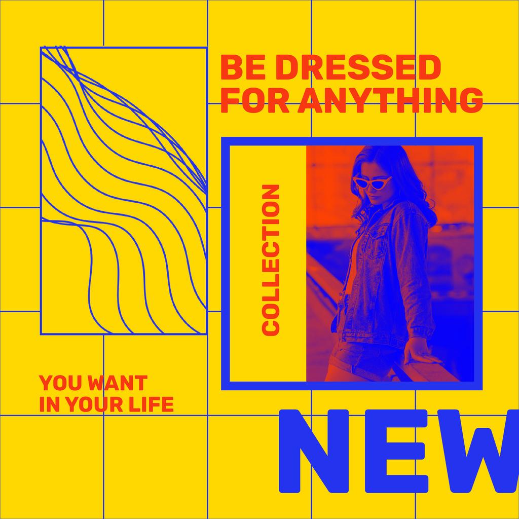 Fashion Collection Ad with Woman silhouette — Modelo de projeto