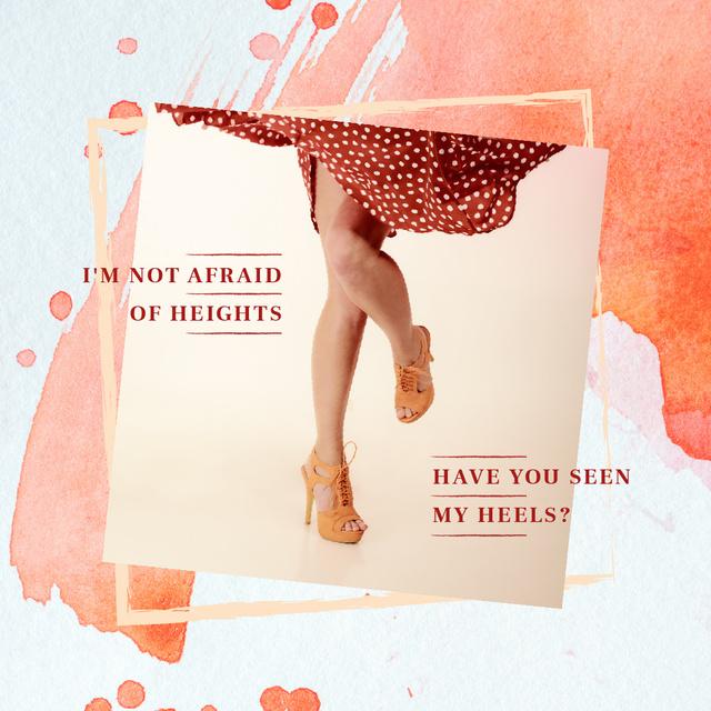 Female legs in heeled shoes Instagram Tasarım Şablonu