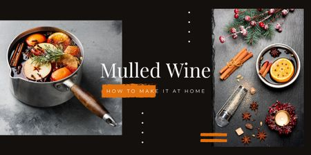 Template di design Red mulled wine Image