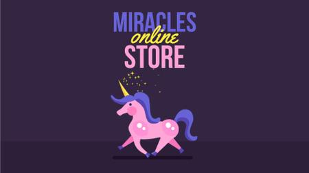 Running Magical Unicorn Full HD video Modelo de Design