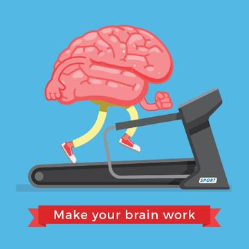 Brain running on treadmill
