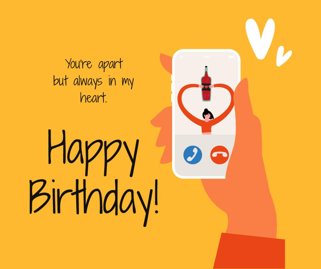 Birthday Greeting on Phone during Quarantine — Maak een ontwerp