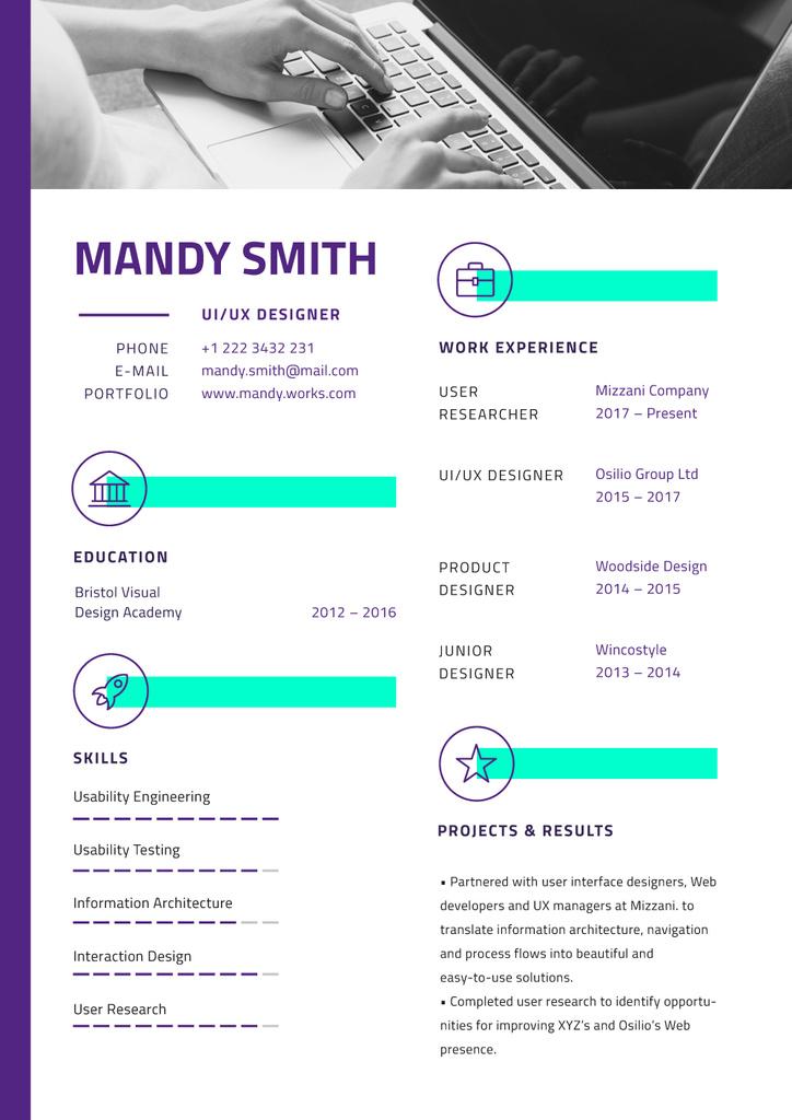 Professional Designer skills profile — Créer un visuel