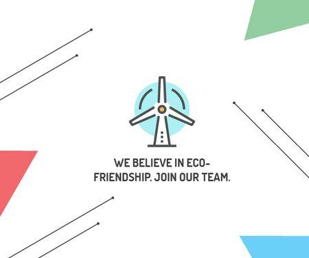 Eco-friendship concept Medium Rectangle – шаблон для дизайну