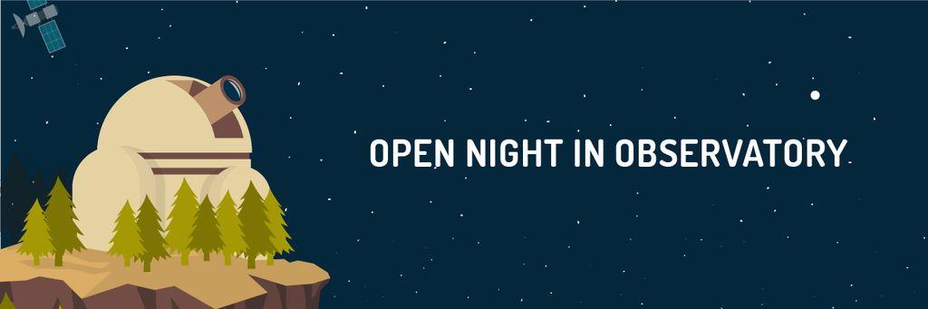 Open night in Observatory — Crear un diseño