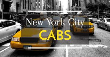 New York city cabs poster