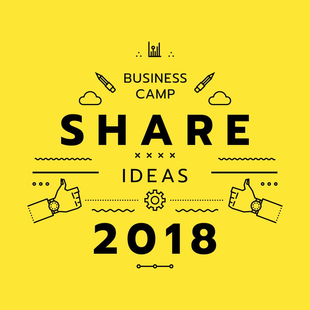 Business camp announcement — Створити дизайн