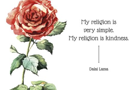 Modèle de visuel Citation about very simple religion - Gift Certificate