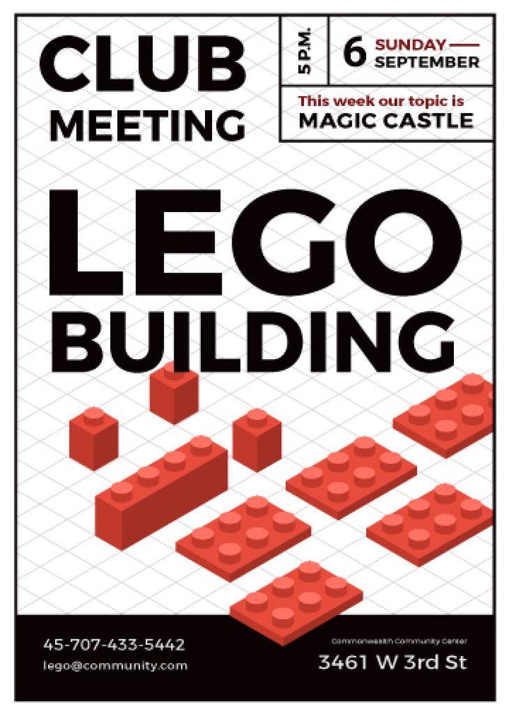 Lego building club meeting poster — Créer un visuel