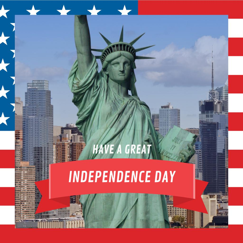 USA Independence Day with statue of Liberty — Créer un visuel