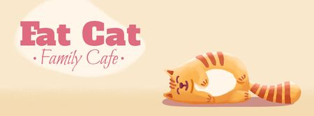 Fat Cat Family Cafe Facebook Video cover Design Template