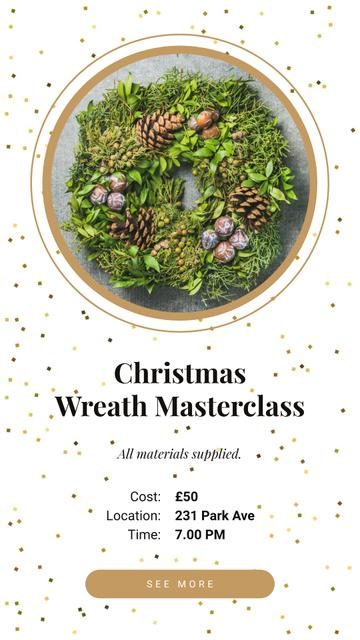 Modèle de visuel Decorative Christmas wreath - Instagram Story
